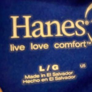 Hanes Tops - 🌹Hanes Long-Sleeve V-Neck Tee 100% Cotton Top🌹